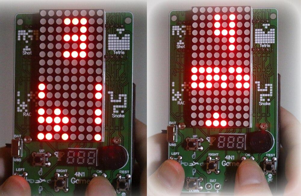 Преимущество оптовая торговля электронный DIY набор 8x16 матричный игровой автомат для тетрис/змея/выстрел/Гонки Diy Набор электронный - 5