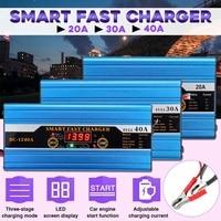 20A/30A/40A Auto Batterij loodaccu Smart Lader Voor Auto Motor LCD Display Bescherming Caravans Motor -woningen Automatisch