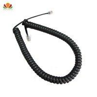 85cm longo cabo de telefone endireitar 5m microfone receptor linha rj22 4p4c conector fio de cobre telefone volume curva handset cabo|Fios de telefone| |  -