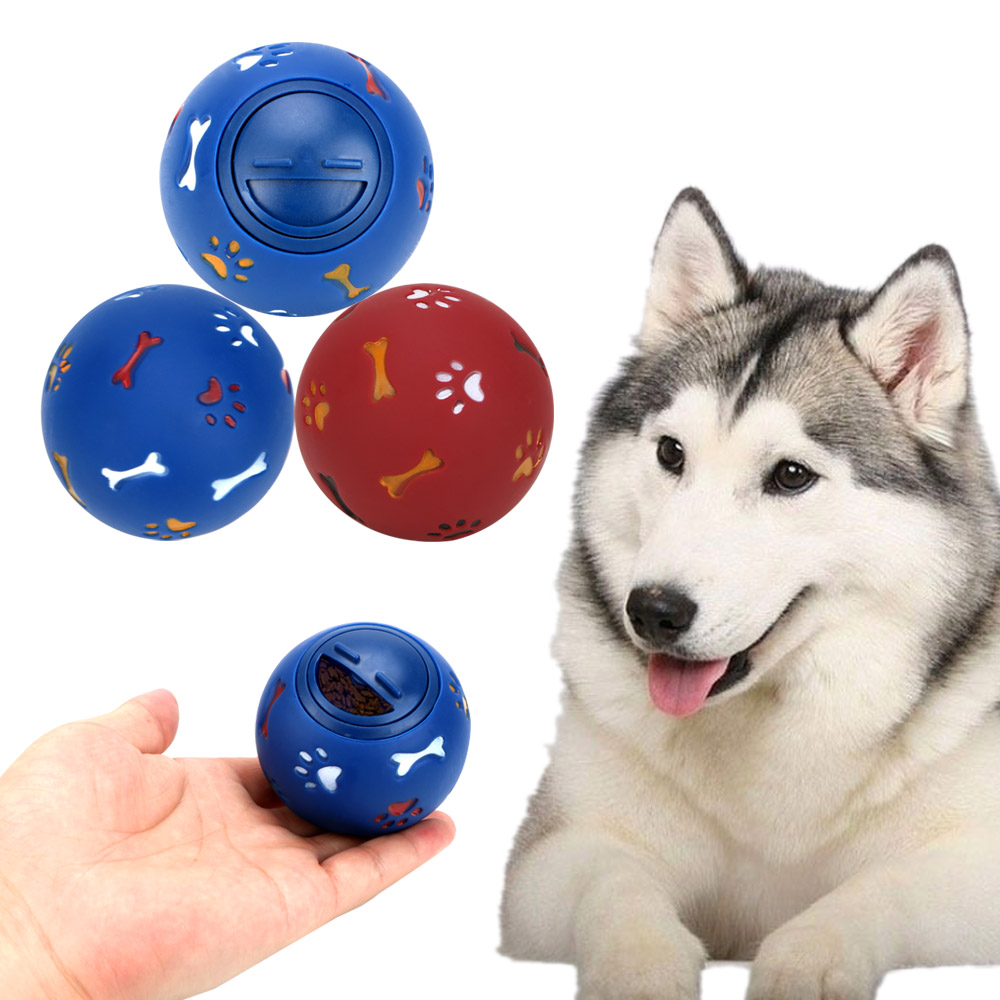 1 Piece 7.5cm Diameter Dog Cat Feeder Balls Dog Chew Toy Toys For Dogs Food Dispenser Ball Dog Interactive Toy