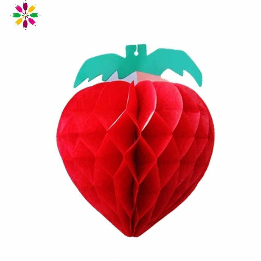 Fruit Party Decor 5pc/set Vivid Honeycomb Strawberry For Birthday Decor Summer Beach Decoration Events Party Table Centerpieces