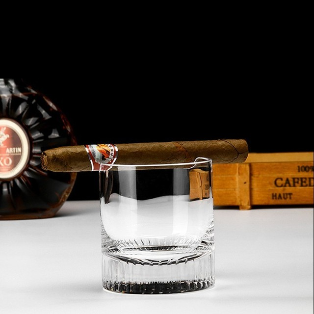 PRO Crystal Cigar Holder Glass Puritano Round Wine Glasses Whisky Usquebaugh XO Cup Brandy Whiskey Rock Vidro Verre Wholesale 1
