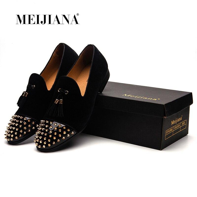 Bureau Rivet Hommes Pointu rouge Luxe Noir 2019 Gland Plat Chaussures Travail Robe Nouveau De Designer VpSUzMqG