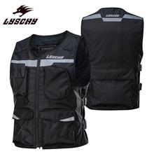 LYSCHY LY-V02 мотоциклетный жилет для езды на мотоцикле мотоциклетный жилет костюм куртка мужская одежда защита байкер мотоциклы Жилеты Черный
