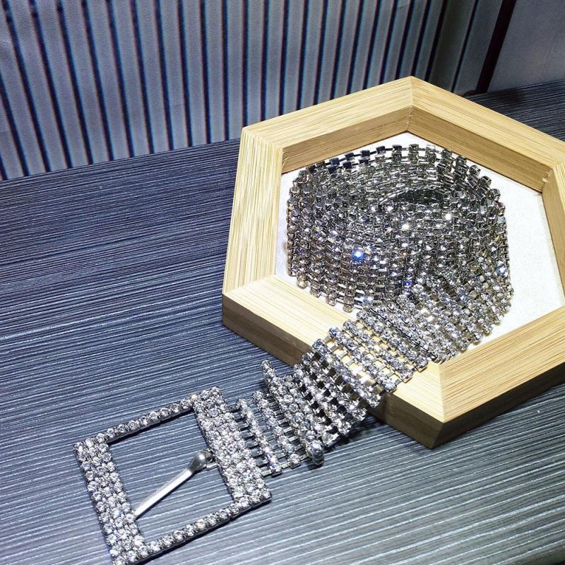 べ женский невесты широкий шик кристалл алмаза талии цепочки пояса роскошный яркий полный горный