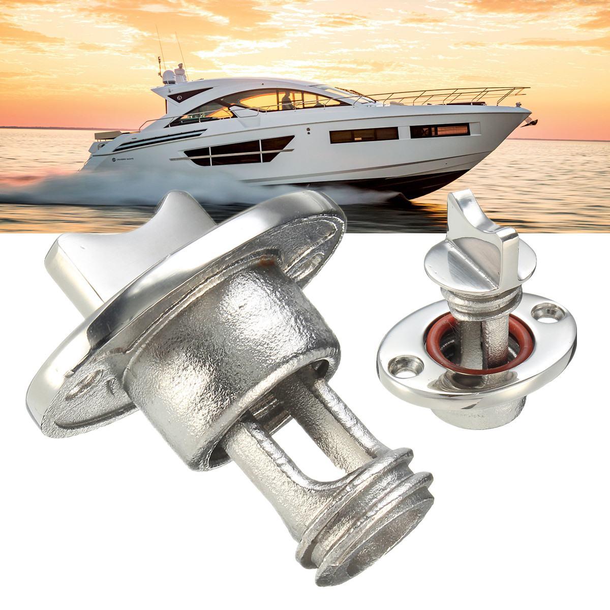"""Argent 1 """"Surface de bateau marin polissant le bouchon ovale de Drain de Garboard s'adapte au trou filetage acier inoxydable 316 anticorrosion"""