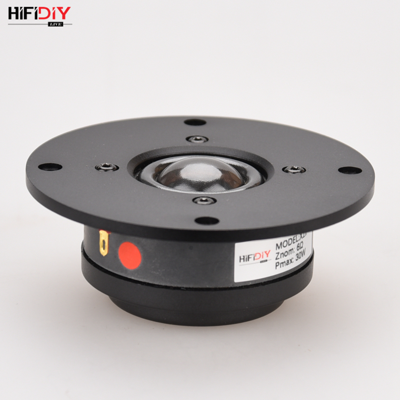 HIFIDIY LIVE  X1II 4 inch 4.5 Tweeter Speaker Unit aluminum panel  transparent Silk membrane 6OHM30W Treble Loudspeaker 94~120mmHIFIDIY LIVE  X1II 4 inch 4.5 Tweeter Speaker Unit aluminum panel  transparent Silk membrane 6OHM30W Treble Loudspeaker 94~120mm