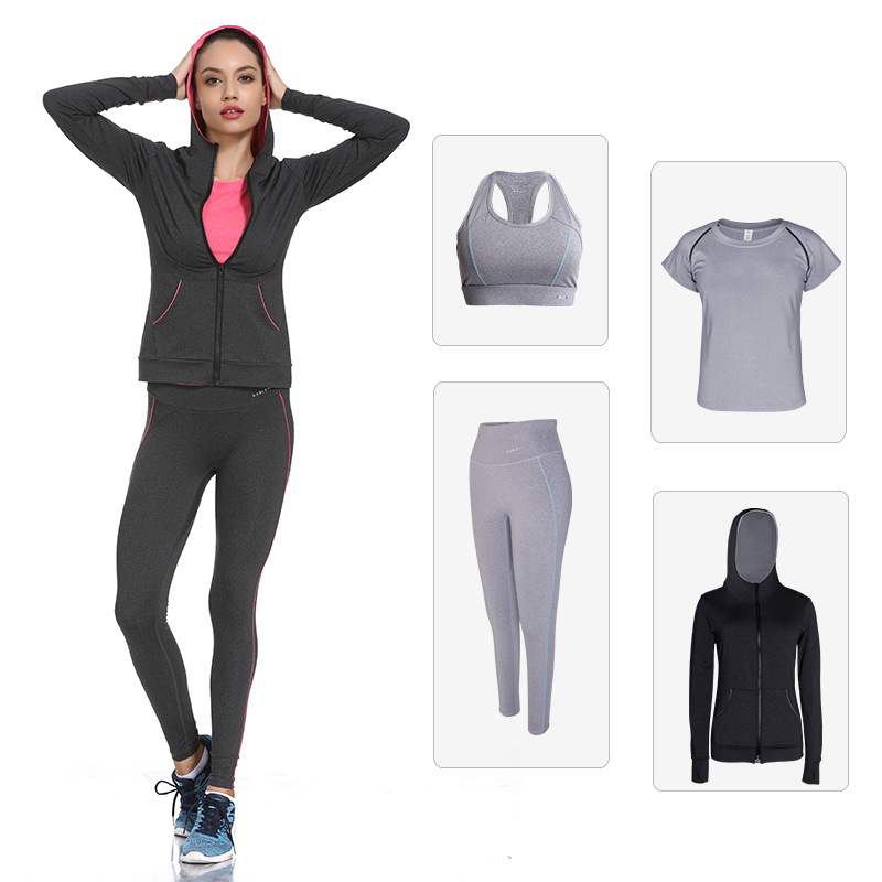 Women Sports Suit Solid Yoga Clothing High Elastic Sportswear Breathable Run Outdoor Gym Set 2019 Stretchy Fitness Clothes XXL