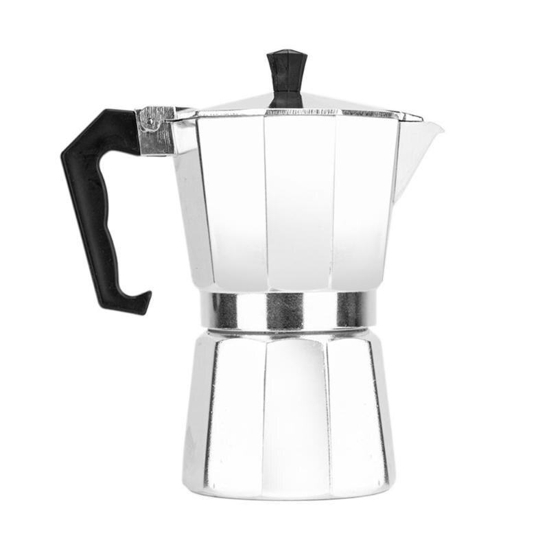Home Portable Manual Coffee Maker Aluminum 3/6/9 Cup Coffee Moka Pot Stove Espresso Latte Maker Percolator
