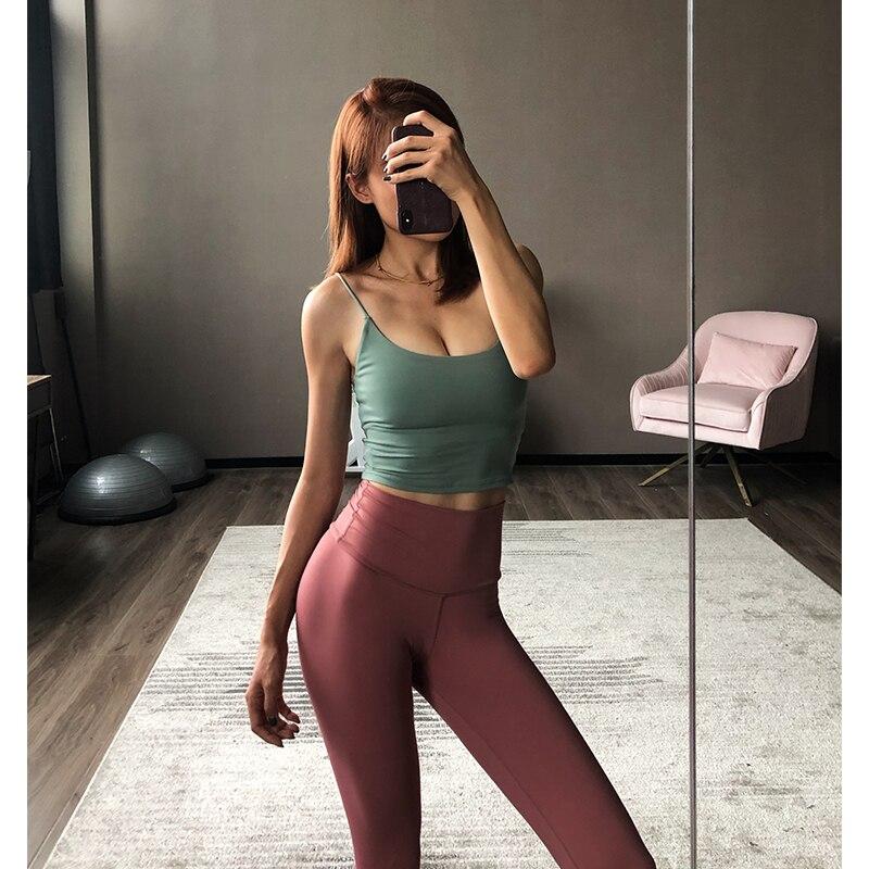 <+>  Безрукавный Мягкий Урожай Топ Женщины Slim Fit Розовый Йога Топ Спорт Тренажерный Зал Майки Милые Ру ✔