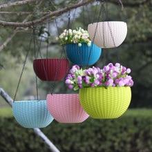 Висячий Плетеный цветочный горшок балкон сад растение корзина украшение дома плантатор