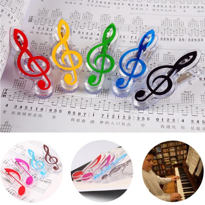 1PC Musical Book Note Clip Plastic Piano Music Book Page Clip Treble Clef Clip Music Accessories