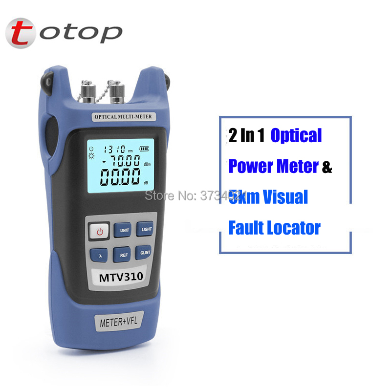 Free Shipping 2 In 1 FTTH Fiber optical power meter -70 to +3dBm and 1mw 5KM Fiber Optic Cable Tester Visual Fault Locator