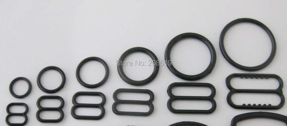 "o ring w// bar 2/"" Inch Buckles Choose Metal with center bar plastic o ring Lot"