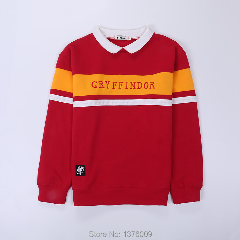 Harry Poter Hogwarts Hoodies Student Collar Gryffindor Women Unisex Junior Sweatshirt Tops Shirts Korean Harajuku Style