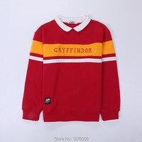 Harry Poter Hogwarts Hoodies Student Collar Gryffindor Women Unisex Junior Sweatshirt Tops Shirts Korean Harajuku Style