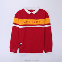 Harry x SPAO Hogwarts Hoodies Student Collar Gryffindor Women Unisex Junior Sweatshirt Tops Shirts Korean Harajuku Style