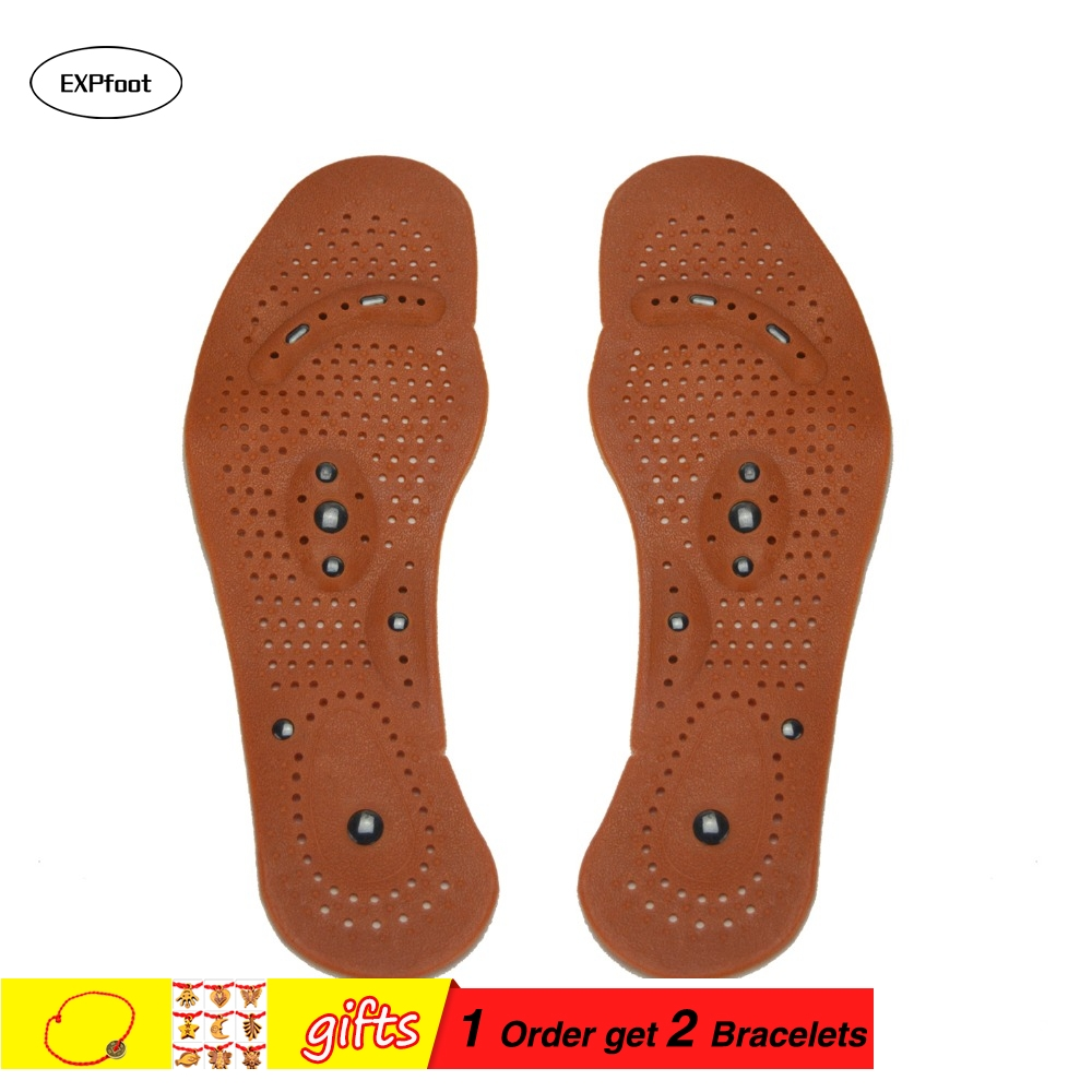 Healthy Tourmaline Shoe Insole Chinese medicine magnetic therapy Foot massage acupuncture treatment orthotics flat foot insole
