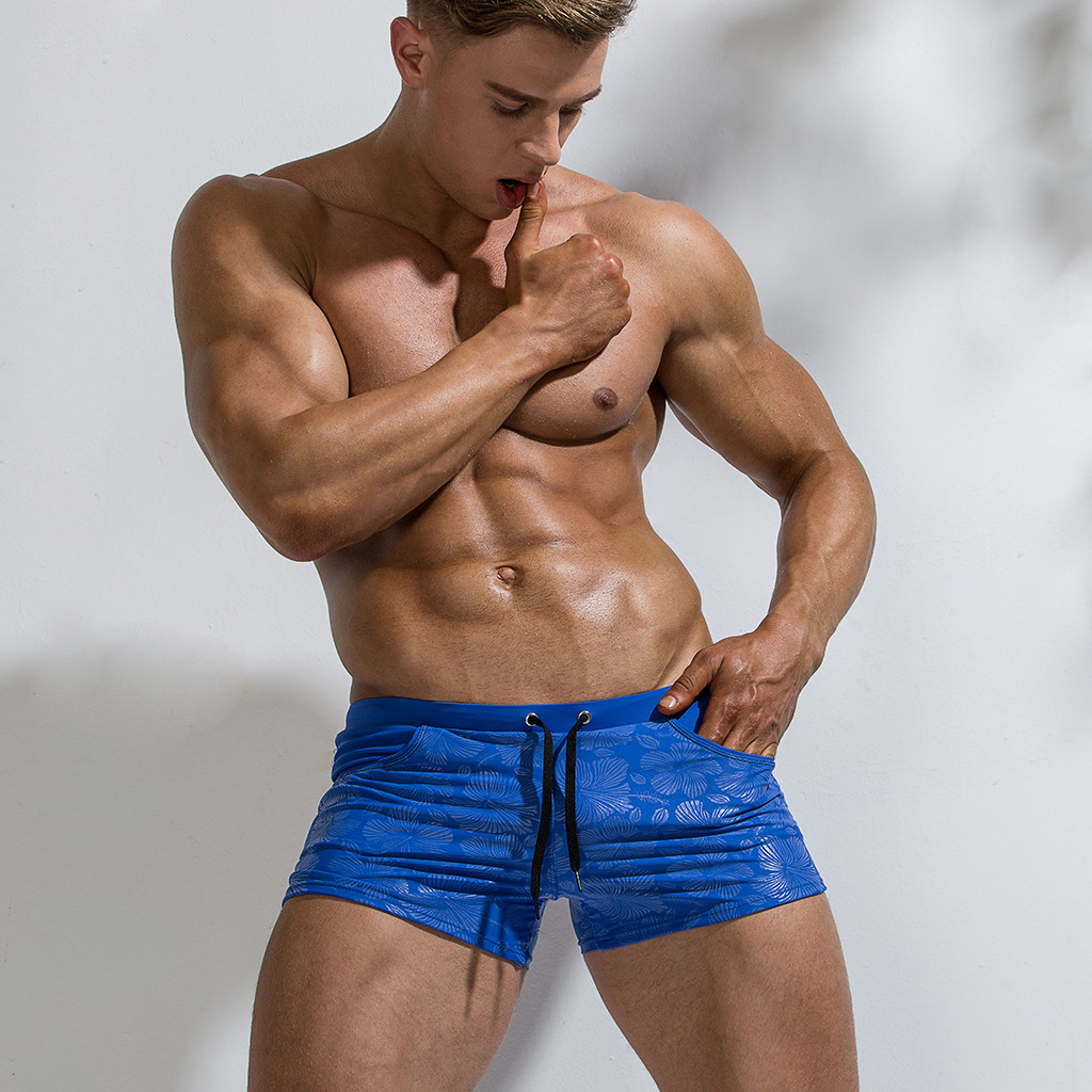 <font><b>2019</b></font> <font><b>Men</b></font> Swimwear Swimming Trunks Sexy Gay Swimsuit Board Shorts Surf Beach Shorts Bathing Suit <font><b>Men</b></font> <font><b>Swim</b></font> Shorts Maillot De Bain image