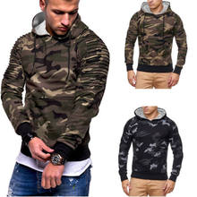 8ba9fceaf7208 New Fashion Camo Hoodies Men's Winter Slim Hoodie Warm Hooded Sweatshirt  Coat Outwear Autumn Winter Men Casual Overcoat
