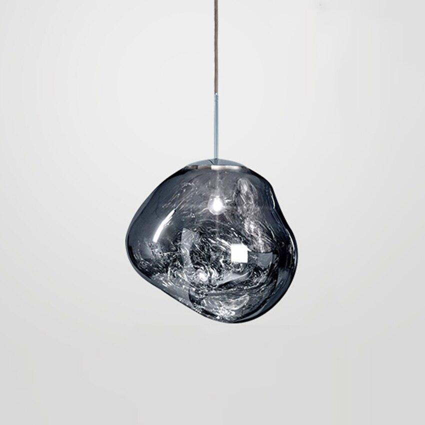 Modern LED Pendant Lamp Tom Dixon Glass Melt Pendant Lights Irregular Mirror Hanging Lamp Lava Bedroom Kitchen Fixtures LightingModern LED Pendant Lamp Tom Dixon Glass Melt Pendant Lights Irregular Mirror Hanging Lamp Lava Bedroom Kitchen Fixtures Lighting