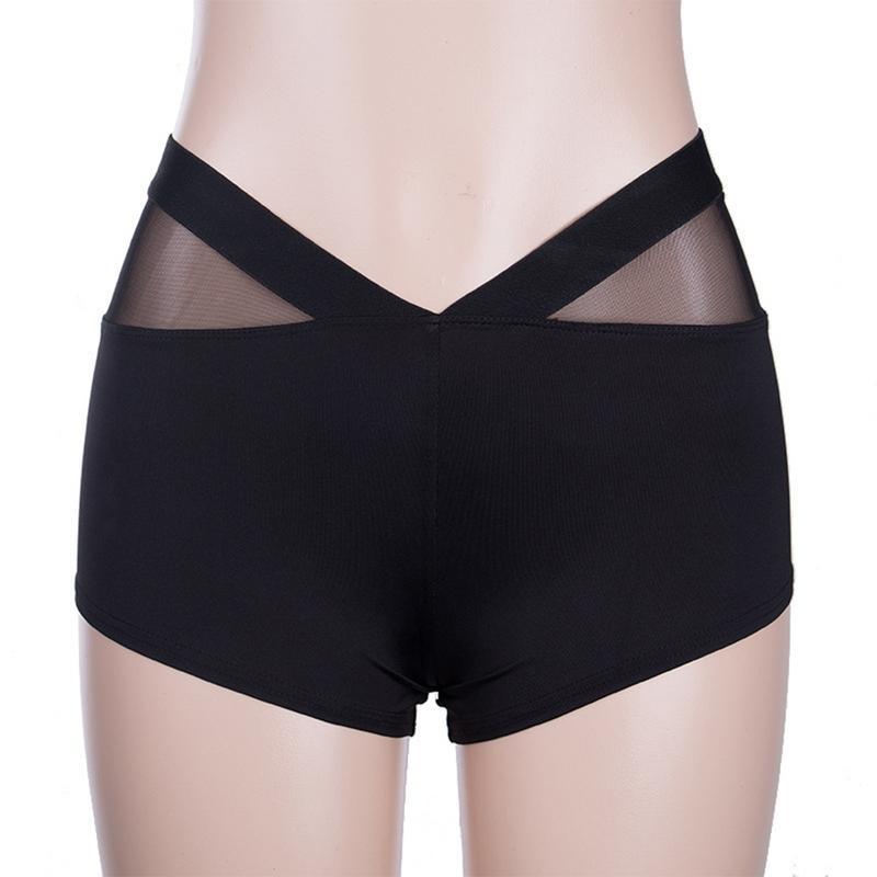 Women   Shorts   Black White Sports Bottom Mesh Splice Slim Fit Large Size High Waist Sweatpants Mini   Shorts   Comfortable Sports