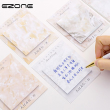 EZONE Marbling Sticky Note Marble Printed Memo Pad For Planner Agend Self-Adhesive Square Papers Bookmark Student Stationery delta phi epsilon square note pad