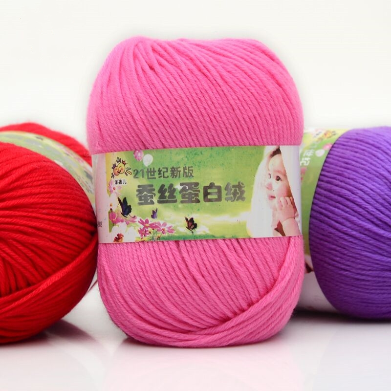 Home & Garden Amicable 50g/pc Worsted Soft Baby Cotton Yarn Silk Protein Wool Yarn Hand Knitting Yarn Crochet And Digestion Helping