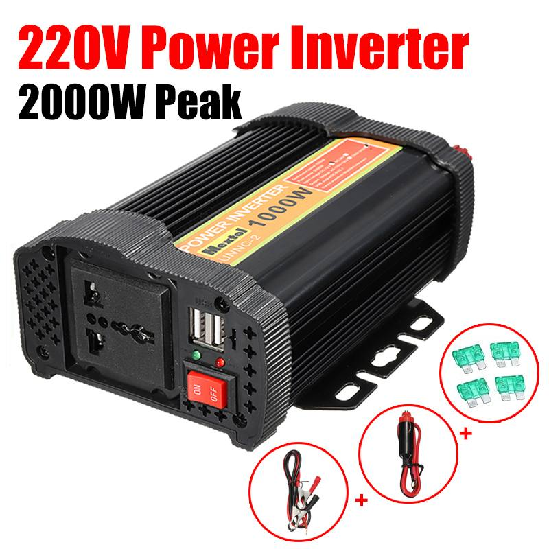 Max 2000W Solar Power Inverter 12V DC to 220V AC LCD Digital Modified Sine Wave Car Charge Converter TransformerMax 2000W Solar Power Inverter 12V DC to 220V AC LCD Digital Modified Sine Wave Car Charge Converter Transformer
