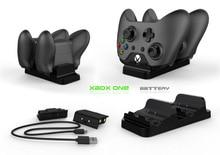 Für XBOX ONE/X/Schlank spiel controller dual ladestation gamepad schnelle ladegerät plus 2 akku pack mit USB kabel