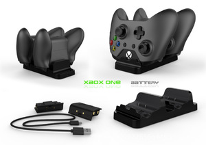 Image 1 - Für XBOX ONE/X/Schlank spiel controller dual ladestation gamepad schnelle ladegerät plus 2 akku pack mit USB kabel