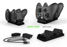 XBOX ONE/X/スリムゲームコントローラデュアル充電ベースゲームパッド急速充電器プラス 2 充電式バッテリーパック usb ケーブル
