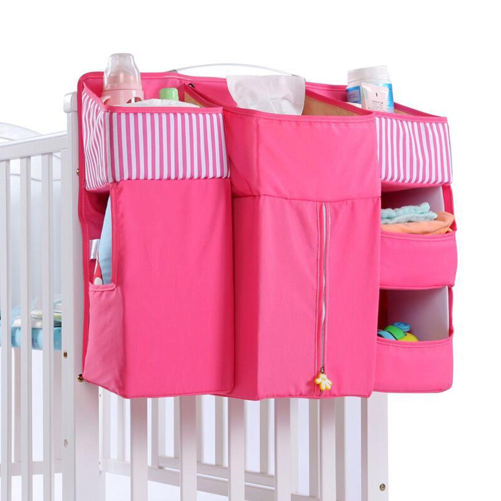Органайзер для детской кроватки, подвесная сумка для детской кроватки, универсальная сумка для хранения подгузников, сумка колыбель, Компл