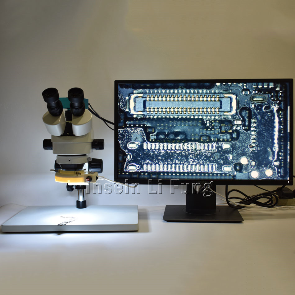 2019 Nouvelle Monture C 0.4X Adaptateur Trinoculaire Stéréo HD Microscope 3.5X-90X Continue Zoom + 21MP 1080 P 60fps HDMI Microscope Caméra