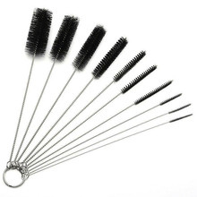 10pcs/set Car Detail Cleanning Nylon Tube Brushes Straw Set For Glasses / Keyboards / Jewelry Cleaning Brushes Clean Tools(China)