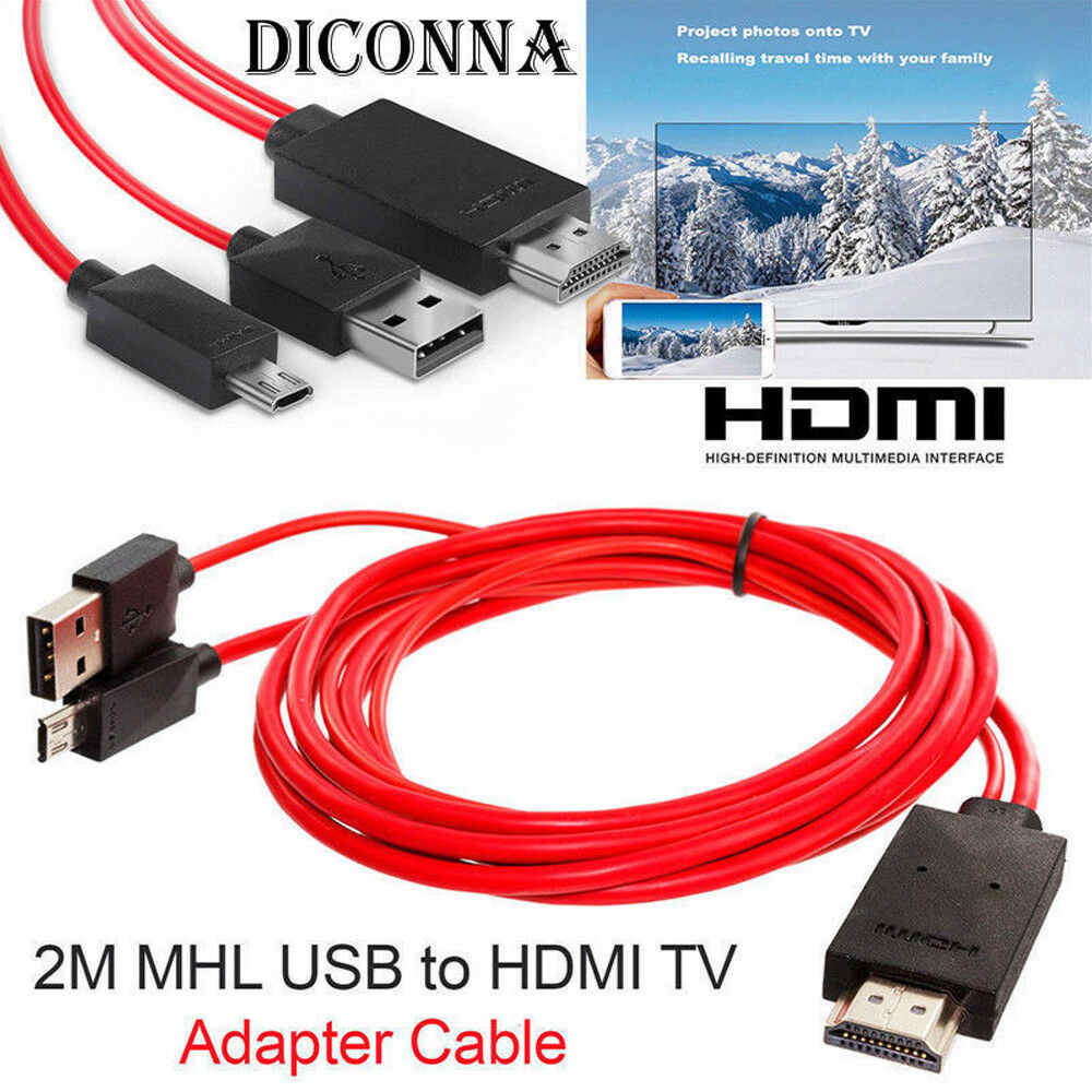 MHL Micro USB To HDMI Cable TV Out Lead 1080p For LG,Samsung Galaxy, HTC,HUAWEI