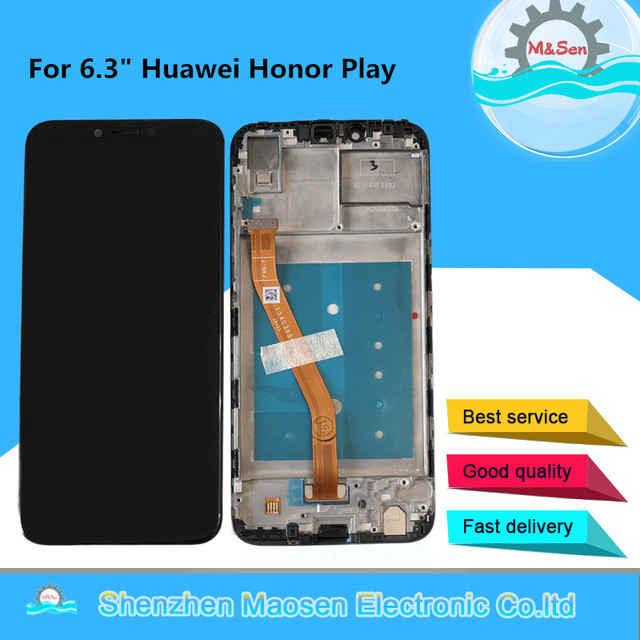 """Original M&Sen 6.3"""" For Huawei Honor Play COR L29 LCD Display Screen+Touch Panel Digitizer With Frame For COR AL00 COR TL10"""