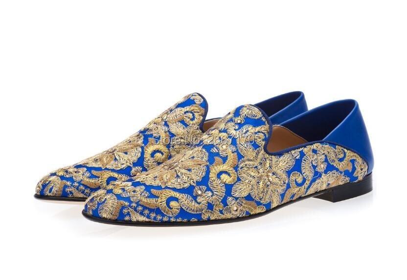 Pics De Lona Mulas Moda La Cristal Vintage as Los Zapatillas Adornado As Bordado Pics Patchwork Zapatos Multicolor Hombres Mocasines w5pa8xnq