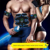 Wireless Muscle Stimulator EMS Abdominal Massager With Remote Control Machine USB Charge Slimming Massager Workout Equipment