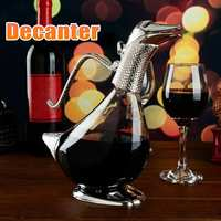 Duck Wine Decanter Red Wine Silver Finish Glass Decanter Brandy Decant Set Jug Bar Champagne Water Bottle Drinking Gift