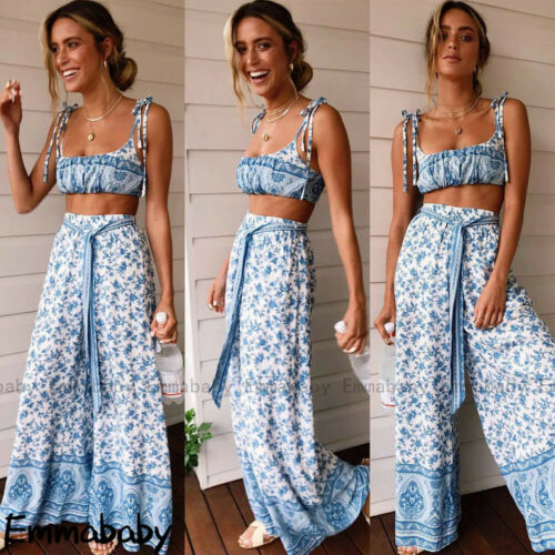 Frauen Boho Sleeveless Clubwear Playsuit Bodycon Partyhose Floral Jumpsuit