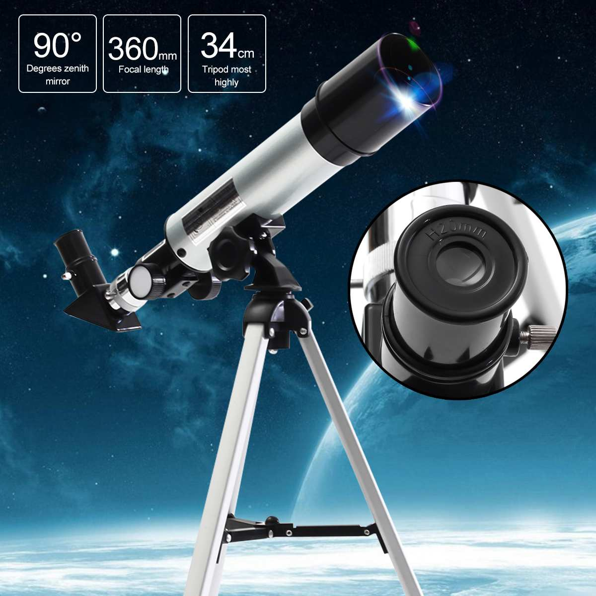 hunting Astronomical telescope for Refractor Type Space
