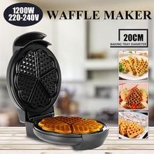 ЕС штекер 1200 Вт антипригарный Электрический яйца, пироги вафельница машина Crept завтрак креп машина для выпечки Кухня кухонная утварь