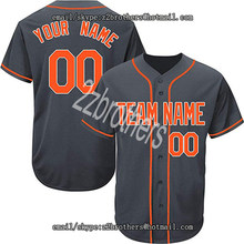 e60ea5469 Wholesale OEM Charcoal Custom Baseball Jersey for Men Women Youth Button  Down Embroidered Team Logo Name