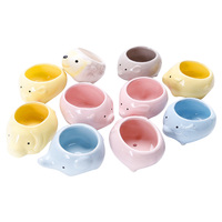 12 Piece Lovely Kawaii Cute Creative Adorable Animals Ceramic Flowerpot Planter Succulent Plants Flower Pot Vase