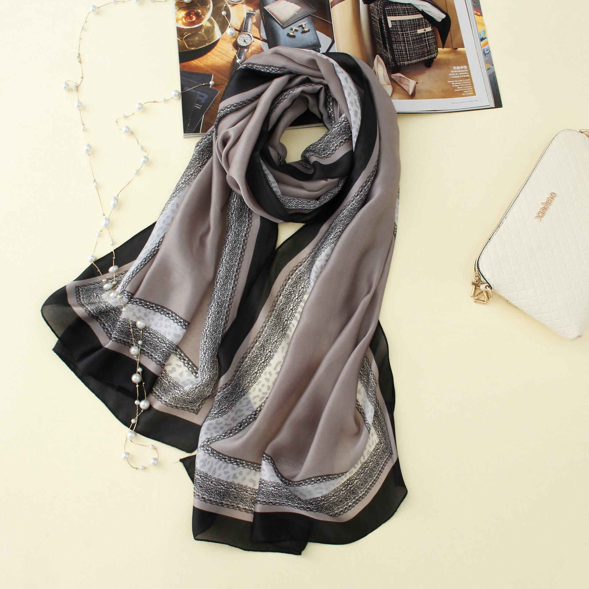 2020 New Brand Women Scarf Fashion Summer Soft Print Long Size Shawls Silk Scarves Lady Pashmina Bandanas 190*80cm