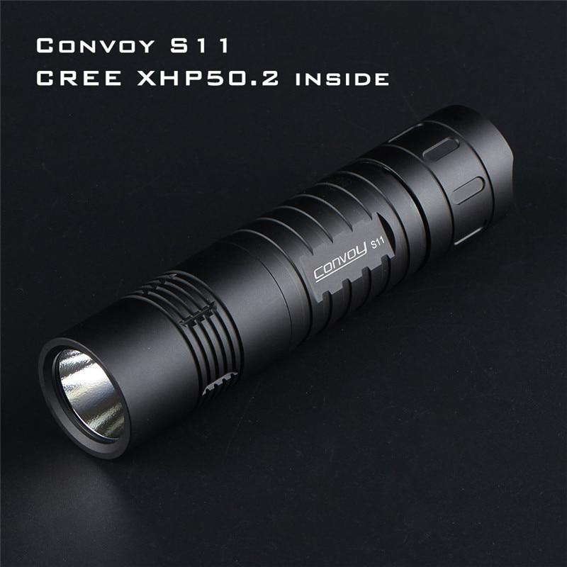 Convoy S11 XHP50.2 3A Output Brightness LED Flashlight Powerful Outdoor Tactical Flashlight Mini Torch EDC 18650 Flashlight