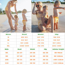 Women Mother and Toddler Girl Matching Summer Two Piece Swimwear