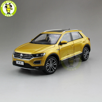 1/18 FAW V W T ROC T ROC Diecast Car Model Toys Boy Girl Birthday Gift Collection Hobby Gold