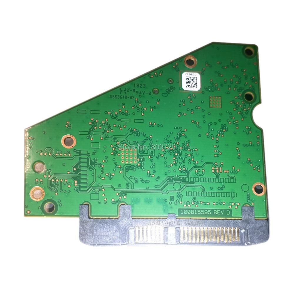 Hard Drive Parts PCB Logic Board Printed Circuit Board 100815595 REV D For Seagate 3.5 SATA Hdd Data Recovery Hard Drive Repair
